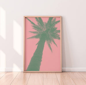 Pink Palm Digital Wall Print II - Salt&Printer