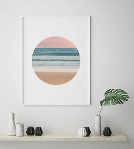 Beach Circle Digital Wall Print - Salt&Printer