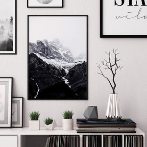 Snowy Mountain Digital Wall Print - Salt&Printer