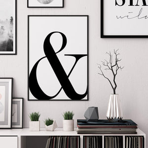 Ampersand Digital Wall Print - Salt&Printer