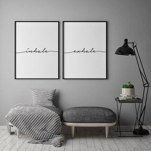 Inhale Exhale Digital Wall Print - Salt&Printer