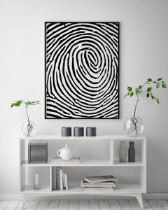 Fingerprint Digital Wall Print - Salt&Printer