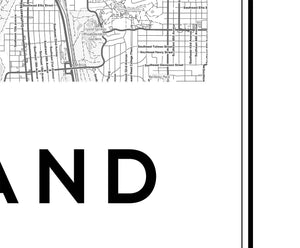 Portland City Map Print - Salt&Printer