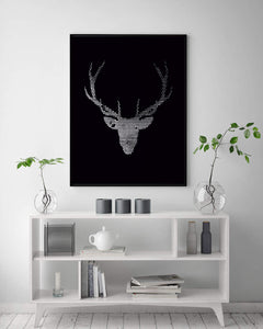 Deer Digital Wall Print - Salt&Printer