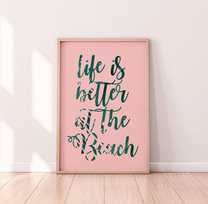 Beach Typography Digital Wall Print - Salt&Printer