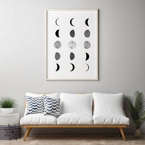 Moon Phases Digital Wall Print II - Salt&Printer