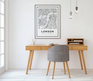 London City Map Print - Salt&Printer