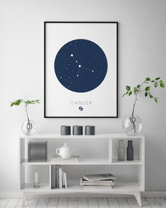 Cancer Zodiac Digital Wall Print - Salt&Printer
