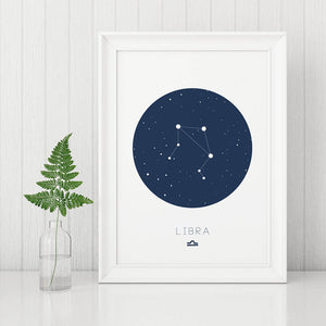 Libra Digital Wall Print - Salt&Printer