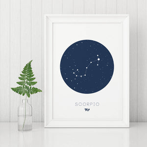 Scorpio Digital Wall Print - Salt&Printer