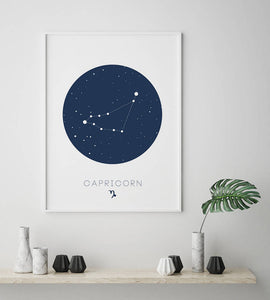 Capricorn Zodiac Digital Wall Print - Salt&Printer