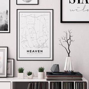 Heaven City Map Print - Salt&Printer