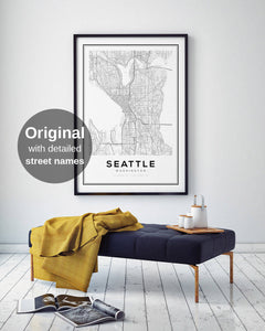 Seattle City Map Print - Salt&Printer