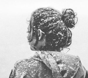 Girl in Snow Emotive Digital Wall Print - Salt&Printer