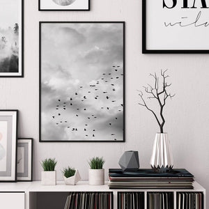 Flock of Birds Digital Wall Print - Salt&Printer
