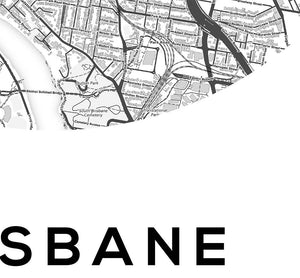 Brisbane Circle Map Print - Salt&Printer