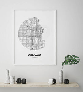 Chicago Circle Map Print - Salt&Printer