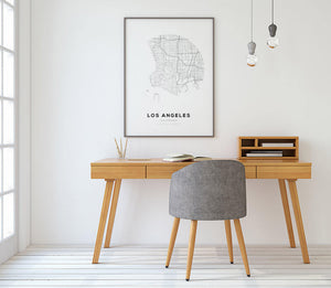 Los Angeles Circle Map Print - Salt&Printer