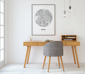 Rome Circle Map Print - Salt&Printer