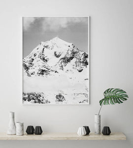 Snowy Mountain Digital Wall Print II - Salt&Printer