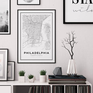 Philadelphia City Map Print - Salt&Printer