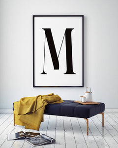 Letter M Digital Wall Print - Salt&Printer