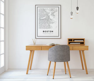 Boston City Map Print - Salt&Printer