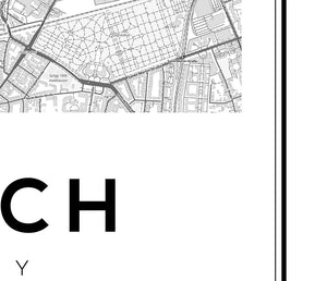 Munich City Map Print - Salt&Printer