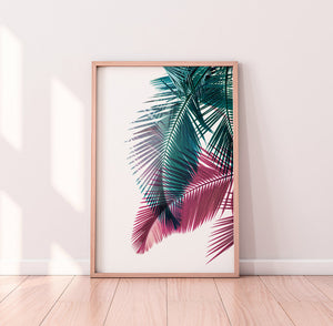 Palm Leaf Digital Wall Print III - Salt&Printer