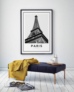 Paris Eiffel Tower Digital Wall Print - Salt&Printer