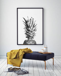 Silver Pineapple Digital Wall Print - Salt&Printer