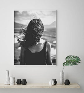 Hair Blowing in Wind Emotive Digital Wall Print - Salt&Printer