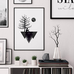 Geometric Silhouette Digital Wall Print - Salt&Printer