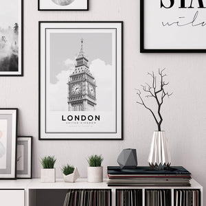 London Big Ben Digital Wall Print - Salt&Printer