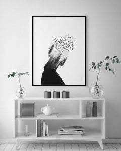 Scandinavian Forest Girl Print - Salt&Printer