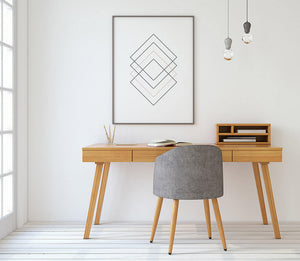 Geometric Diamond Pattern Digital Wall Print - Salt&Printer