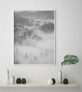Foggy Forest Digital Wall Print - Salt&Printer