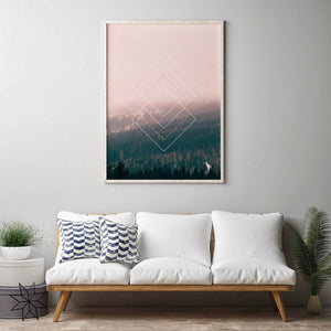 Pink Forest Digital Wall Print - Salt&Printer