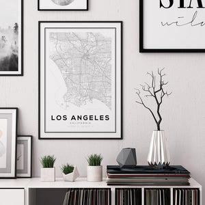 Los Angeles City Map Print - Salt&Printer
