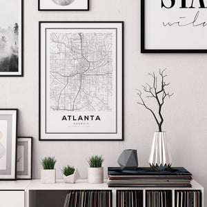 Atlanta City Map Print - Salt&Printer