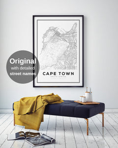 Cape Town City Map Print - Salt&Printer