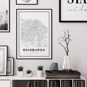 Edinburgh City Map Print - Salt&Printer