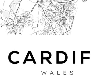 Cardiff City Map Print - Salt&Printer