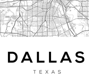 Dallas City Map Print - Salt&Printer