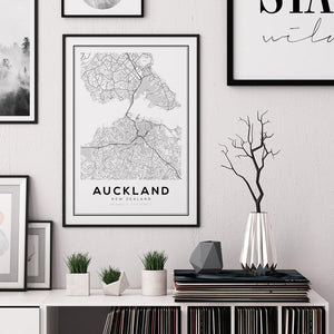 Auckland City Map Print - Salt&Printer