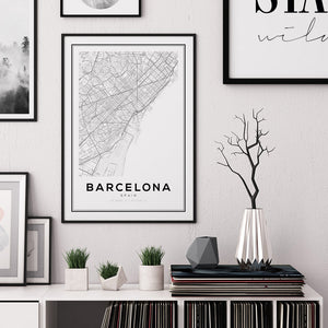 Barcelona City Map Print - Salt&Printer