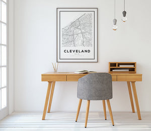 Cleveland City Map Print - Salt&Printer