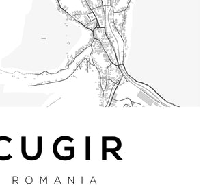 Cugir City Map Print - Salt&Printer