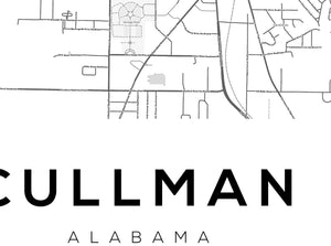 Cullman City Map Print - Salt&Printer