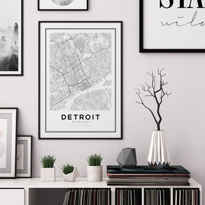 Detroit City Map Print - Salt&Printer